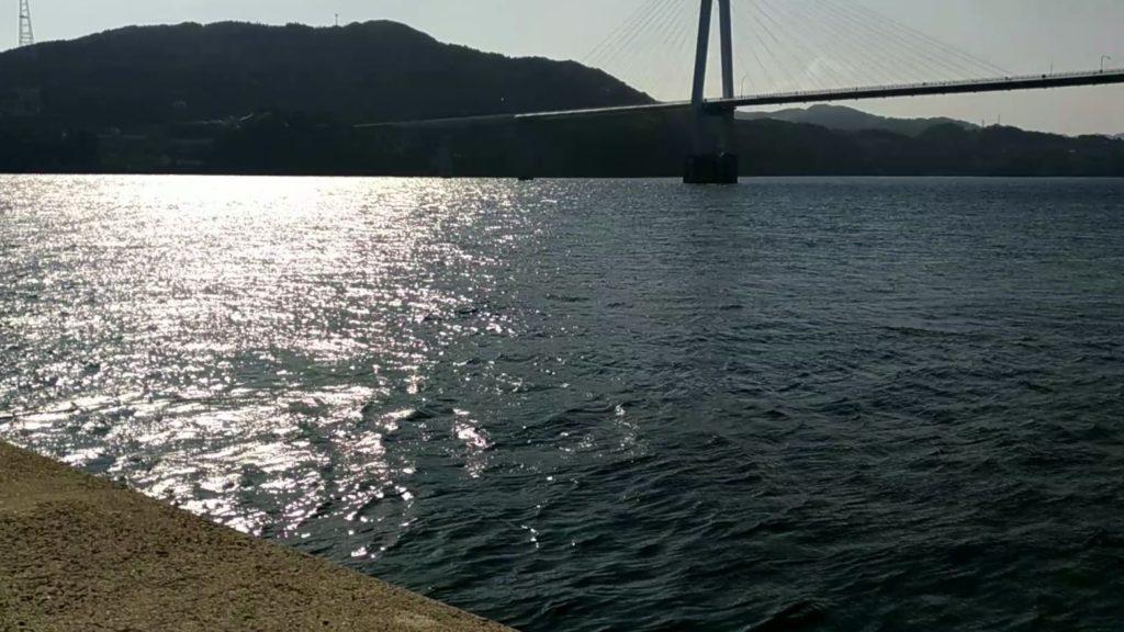 長崎県西海市大島大橋渡ってすぐの釣り場!建設現場の新防波堤!